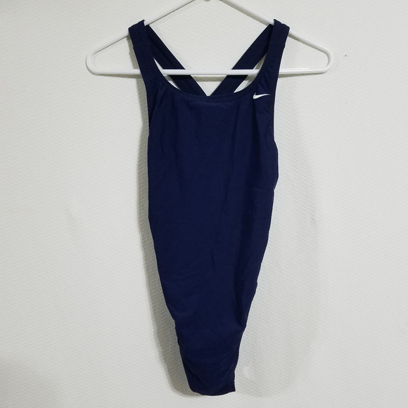 Nike Womens 8 Swimsuit One Piece Swim Suit Blue